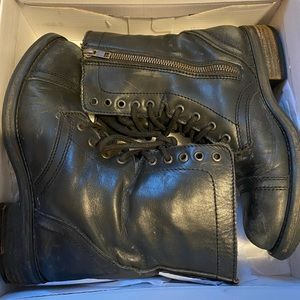 Steve Madden Troopa Combat Leather Boots